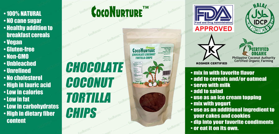 Chocolate Coconut Tortilla Chips